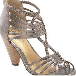 Seychelles Metallic Strappy Sandals, sz 10